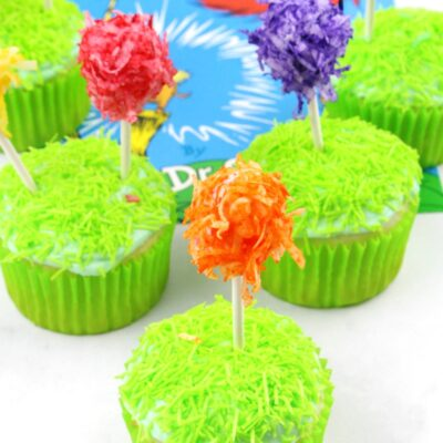 Truffula Tree Cupcakes Recipe for Dr Seuss Party Idea