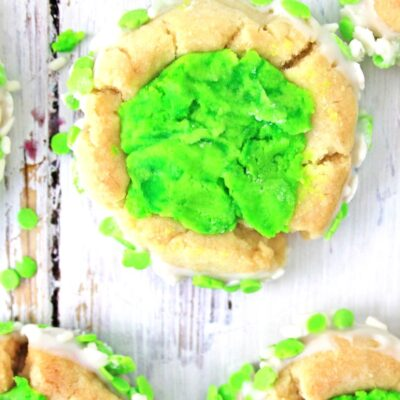 St. Patrick's Day Thumbprint Cookies
