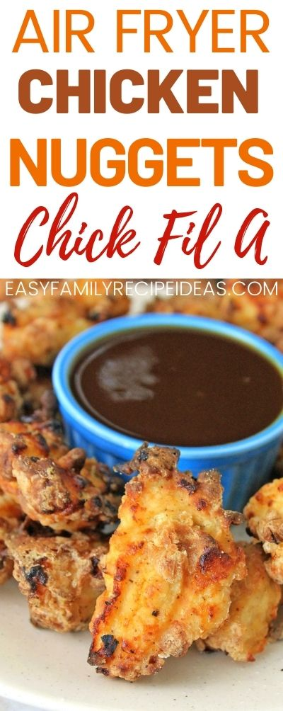 If you are looking for Air Fryer recipes, this Amazing Chick Fil A Nugget recipe is the first you should try. Easy and Healthy Chicken Nugget recipe kids and adults love to eat. Copycat Air Fryer Chick-fil-A Nuggets for the Win. #airfryer #airfryerrecipes #chicken #recipes #bestairfryer #copycatrecipe #copycat #chickenbreast