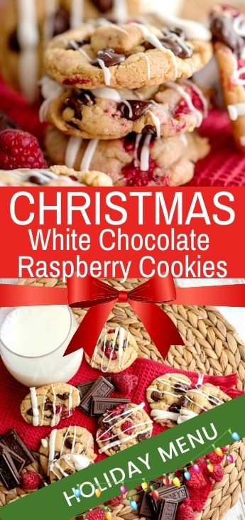 When you're craving cookies, you're going to love these White Chocolate Raspberry Cookies! Just wait until you try this delicious flavor combination. Best Chocolate Raspberry Cookies Ever! A perfect Christmas Cookie Recipe with A handful of ingredients make these Raspberry Cookies full of yumminess