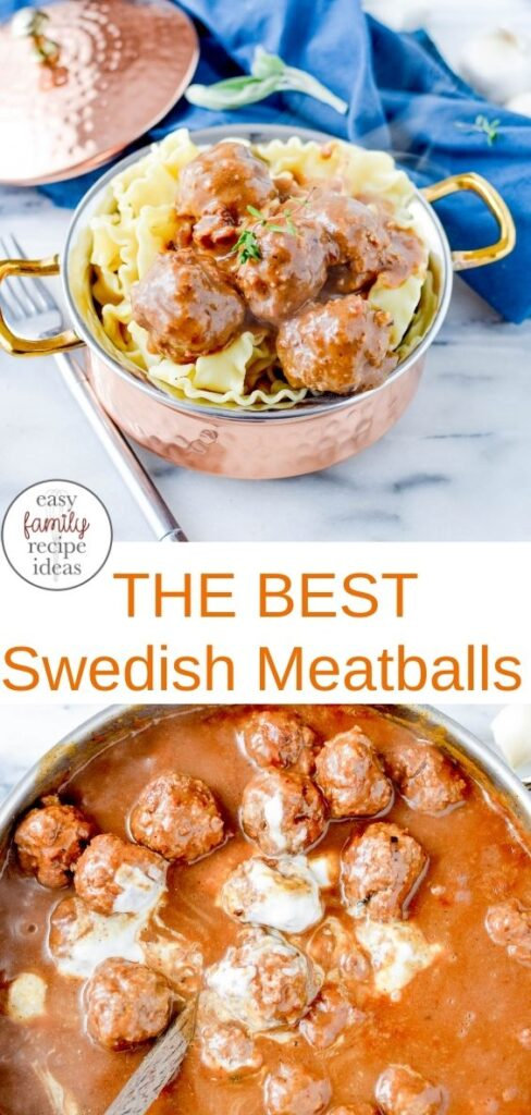 The Best Swedish Meatballs Recipe! This is a delicious dinner recipe or appetizer idea. If you need Recipes with Ground Beef this Swedish meatballs with noodles is scrumptious, make a Meatballs and Noodles Casserole
