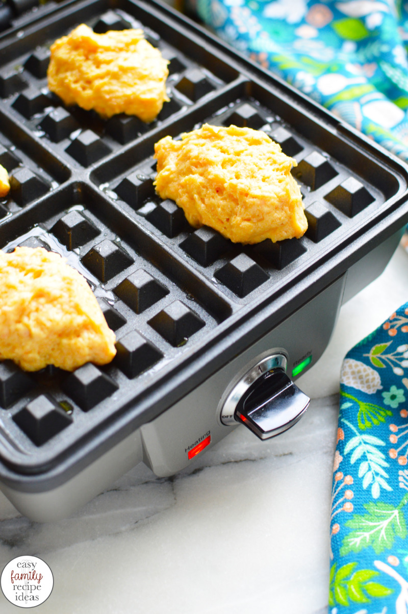 Everyone should make this Gluten Free Carrot Waffle Recipe this spring. This is an Easter brunch favorite and it's so easy to make. Delicious and Healthy Easter Carrot Waffles with only a few ingredients. Make Carrot Puree Waffles for your family for an easy Easter breakfast. Carrot Waffles Toddler