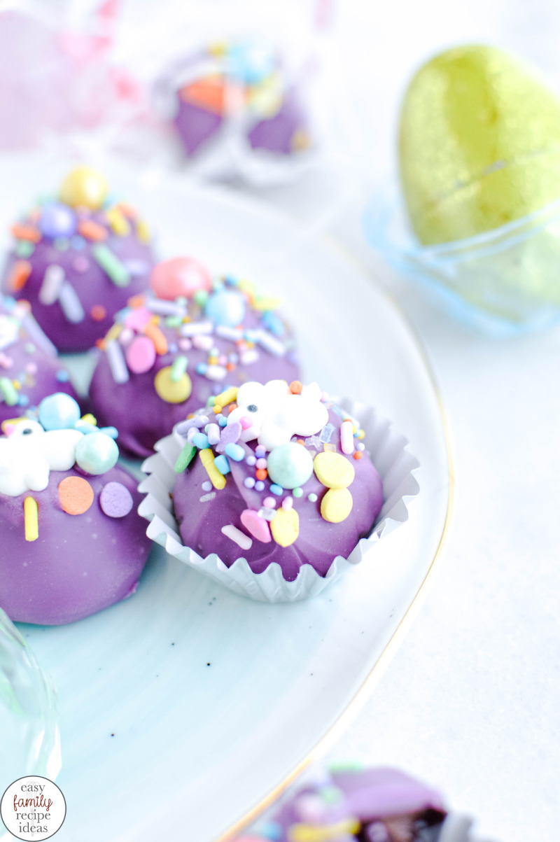 Homemade Chocolate Easter Truffles Recipe, Chocolate truffles are a delicious sweet treat and a favorite for special holidays. Now you can make them with spring colors and sprinkles for Easter with this recipe. Easter Truffles Recipe