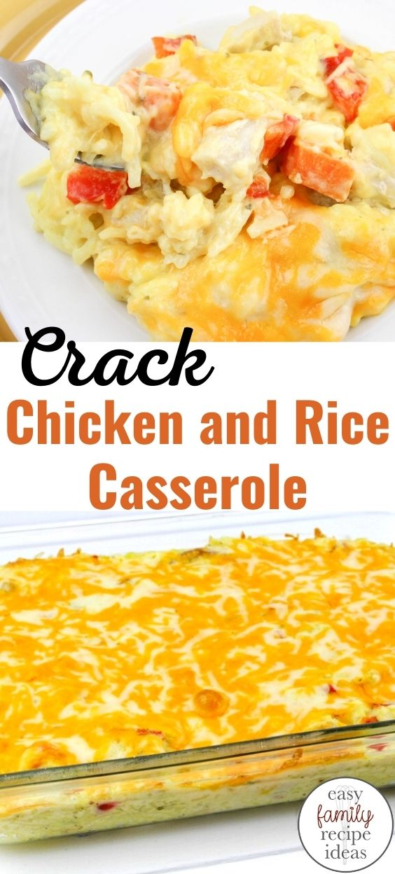 Crack chicken and rice casserole, This simple Cheesy Chicken and Rice meal is a great Easy Dinner Recipe for busy families. Super simple to make and so tasty, too! Easy Cheesy Chicken & Rice, This is a 30 minutes or less easy family recipe idea kids and adults love to eat. Baked Chicken and Rice Casserole is Delicious!
