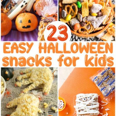 24+ Easy Halloween Snacks for Kids