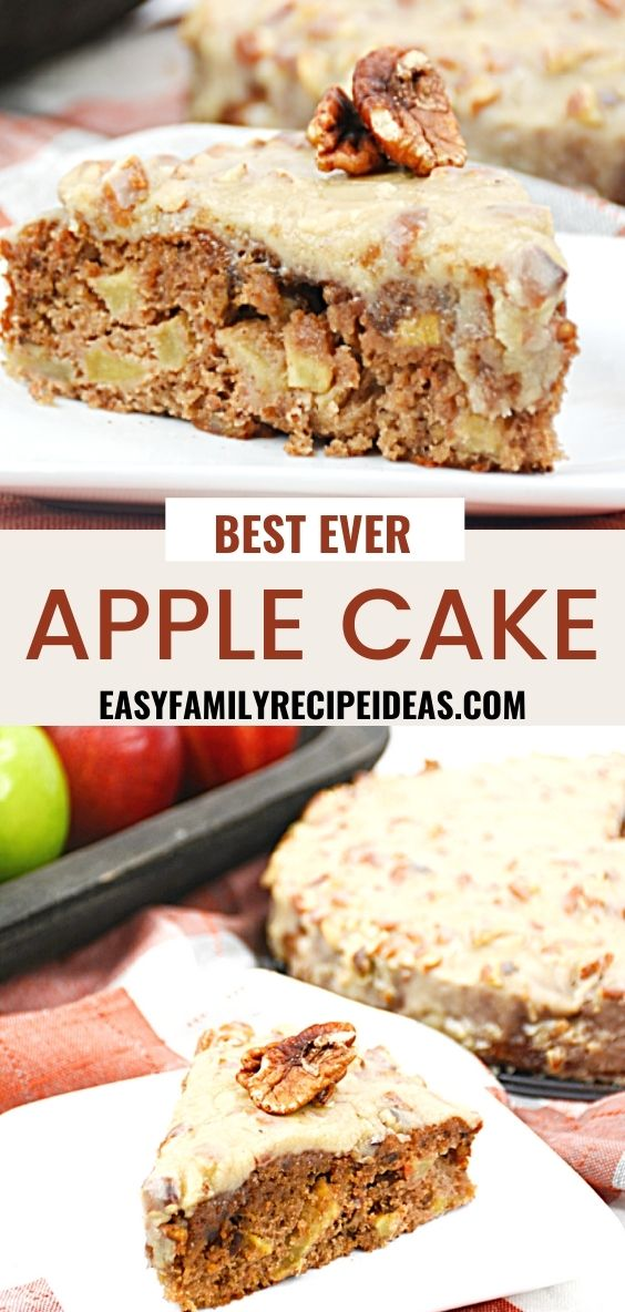 This Apple Dapple Cake is a favorite and it's easy to make. A Creamy Caramel Sauce topping an Apple and Walnut filled Cake, A DELICIOUS Caramel Apple Cake, and find easy apple recipe ideas and caramel apple snacks here too