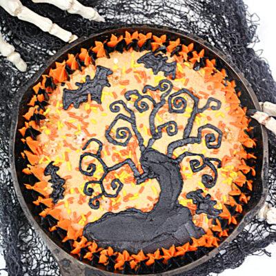 Haunted Tree Halloween Cookie Cake Recipe