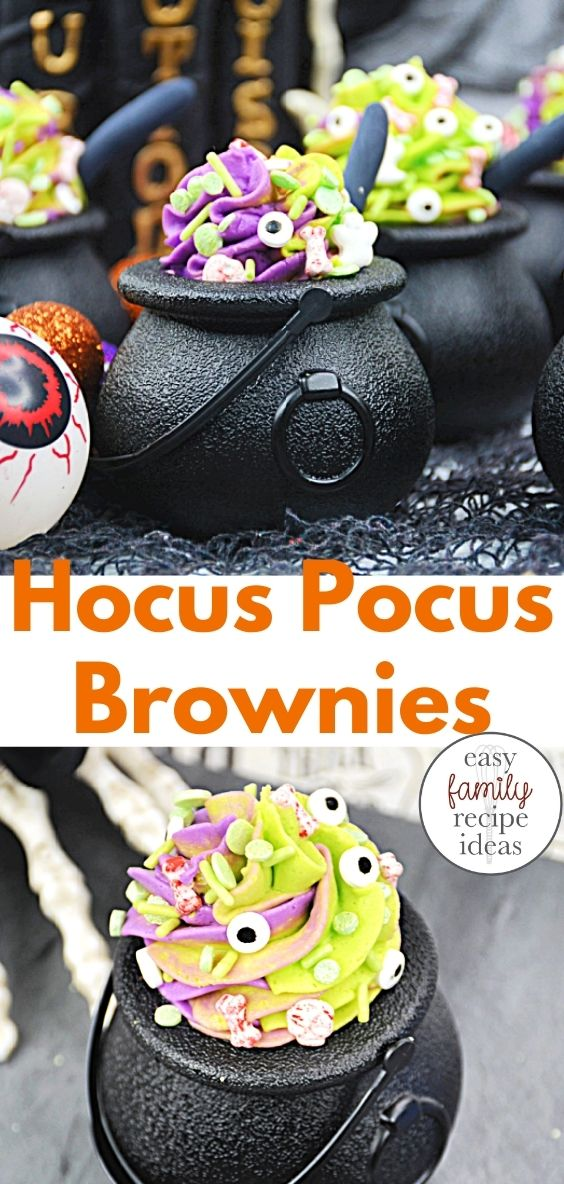 If you're a big fan of Hocus Pocus and chocolate, you'll love these rich Halloween brownies. Learn how to make delicious hocus pocus Halloween desserts, and get ideas for your very own Hocus Pocus witch-themed recipes and spellbook brownies, Hocus Pocus treats, Hocus Pocus themed food, and Halloween treats
