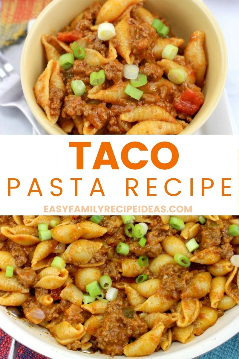 This Taco Pasta will make your belly happy and satisfied. Creamy taco sauce mixed with cheese, pasta, and ground beef for an easy gourmet dish that the whole family will love!